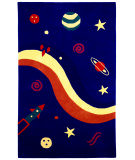 RugStudio presents St. Croix Playful Space Explorer Kt01 Navy Hand-Tufted, Best Quality Area Rug