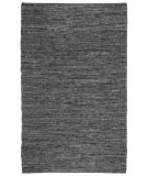 RugStudio presents St. Croix Matador Leather Chindi Lcd02 Black Woven Area Rug