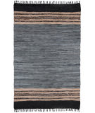 RugStudio presents St. Croix Matador Leather Chindi Lcd06 Gray Woven Area Rug