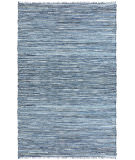 RugStudio presents St. Croix Matador Leather / Denim Dhurry Lcd30 Blue Woven Area Rug