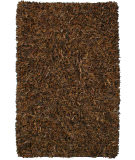 RugStudio presents St. Croix Pelle Leather Shag Ld02 Brown Area Rug