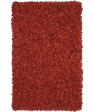 RugStudio presents St. Croix Pelle Leather Shag Ld04 Red Area Rug