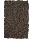 RugStudio presents St. Croix Pelle Leather Shag Ld08 Dark Brown Area Rug