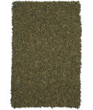 RugStudio presents St. Croix Pelle Leather Shag Ld11 Green Area Rug