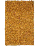 RugStudio presents St. Croix Pelle Leather Shag Ld13 Gold Area Rug
