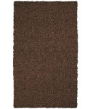 RugStudio presents St. Croix Pelle Short Leather Shag Lr08 Dark Brown Area Rug