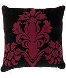 RugStudio presents Surya Pillows P-0024 Black/Burgundy