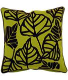 RugStudio presents Surya Pillows P-0108 Lime/Black