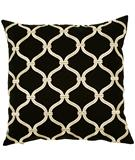 RugStudio presents Surya Pillows P-0176 Black/Beige