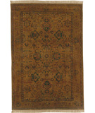 RugStudio presents Surya Adana IT-Kashan Gold Olive Hand-Knotted, Good Quality Area Rug