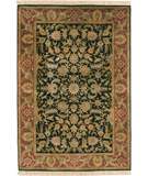 RugStudio presents Surya Taj Mahal Tj-666 Black / Terracotta Hand-Knotted, Better Quality Area Rug