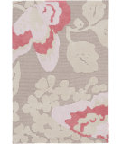 RugStudio presents Surya Abigail ABI-9000 Taupe / Pink Machine Woven, Good Quality Area Rug
