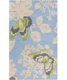 RugStudio presents Surya Abigail ABI-9001 Lime / Blue Machine Woven, Good Quality Area Rug