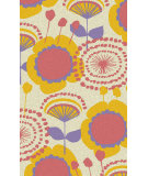 RugStudio presents Surya Abigail ABI-9043 Lemon / Orange Machine Woven, Good Quality Area Rug