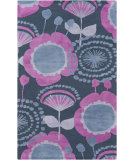 RugStudio presents Surya Abigail ABI-9044 Violet (purple) / Gray / Blue Machine Woven, Good Quality Area Rug