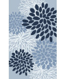RugStudio presents Surya Abigail ABI-9056 Neutral / Blue Machine Woven, Good Quality Area Rug