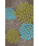 RugStudio presents Surya Abigail ABI-9057 Neutral / Blue / Green Machine Woven, Good Quality Area Rug