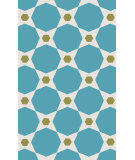 RugStudio presents Surya Abigail ABI-9065 Blue / Green Machine Woven, Good Quality Area Rug
