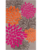 RugStudio presents Surya Abigail ABI-9070 Gray / Hot Pink Machine Woven, Good Quality Area Rug
