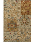 RugStudio presents Surya Arabesque ABS-3012 Green / Chocolate / Red Machine Woven, Good Quality Area Rug