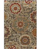 RugStudio presents Surya Arabesque ABS-3020 Green / Neutral / Violet (purple) Area Rug