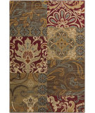 RugStudio presents Surya Arabesque ABS-3025 Green / Neutral / Red / Violet (purple) Area Rug