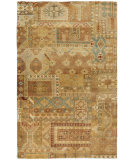 RugStudio presents Surya Ainsley AIN-1011 Gold / Rust / Sea Foam Hand-Knotted, Best Quality Area Rug