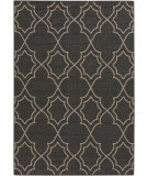 RugStudio presents Surya Alfresco ALF-9590 Black / Taupe Machine Woven, Good Quality Area Rug