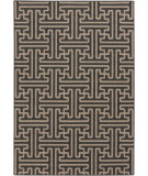 RugStudio presents Surya Alfresco ALF-9604 Taupe / Black Machine Woven, Good Quality Area Rug