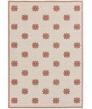 RugStudio presents Surya Alfresco ALF-9605 Beige / Red Hand-Hooked Area Rug