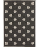 RugStudio presents Surya Alfresco ALF-9608 Black / Ivory Machine Woven, Good Quality Area Rug