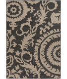 RugStudio presents Surya Alfresco ALF-9615 Black/Taupe Flat-Woven Area Rug