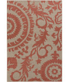 RugStudio presents Surya Alfresco ALF-9617 Taupe / Red Machine Woven, Good Quality Area Rug