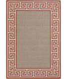 RugStudio presents Surya Alfresco ALF-9628 Beige / Red Hand-Hooked Area Rug