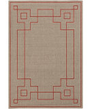 RugStudio presents Surya Alfresco ALF-9633 Beige / Red Machine Woven, Good Quality Area Rug