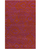 RugStudio presents Surya Alhambra ALH-5015 Rust / Violet (purple) Hand-Tufted, Good Quality Area Rug