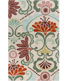 RugStudio presents Surya Alhambra ALH-5018 Neutral / Green / Red / Violet (purple) Area Rug