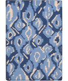 RugStudio presents Surya Alameda AMD-1062 Neutral / Blue Flat-Woven Area Rug