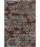 RugStudio presents Surya Ameila AME-2232 Chocolate / Teal Hand-Tufted, Good Quality Area Rug