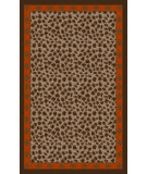 RugStudio presents Surya Amour AMR-8001 Chocolate / Orange Hand-Tufted, Good Quality Area Rug