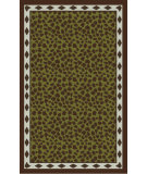 RugStudio presents Surya Amour AMR-8002 Mocha / Green Hand-Tufted, Good Quality Area Rug