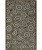 RugStudio presents Rugstudio Sample Sale 17176R Brown Spa Blue Hand-Tufted, Good Quality Area Rug