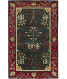 RugStudio presents Surya Arts and Crafts ATC-1007 Forest Green Hand-Knotted, Good Quality Area Rug