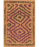 RugStudio presents Surya Atlas ATS-1014 Neutral / Orange / Violet (purple) Hand-Knotted, Good Quality Area Rug