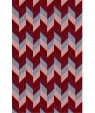 RugStudio presents Surya Bali BAL-1928 Red / Violet (purple) / Neutral / Blue Area Rug