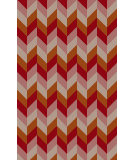 RugStudio presents Surya Bali BAL-1931 Neutral / Orange / Violet (purple) / Pink Area Rug