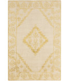 RugStudio presents Surya Bagras Bgr-6001 Gold Hand-Knotted, Good Quality Area Rug