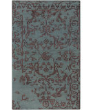 RugStudio presents Surya Bagras Bgr-6002 Teal Hand-Knotted, Good Quality Area Rug