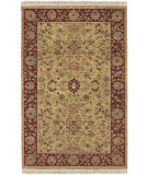 RugStudio presents Rugstudio Sample Sale 17183R Gold Burgundy Hand-Knotted, Better Quality Area Rug