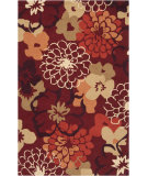 RugStudio presents Surya Brentwood Bnt-7691 Poppy Red Hand-Hooked Area Rug